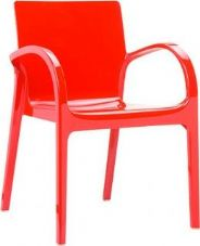 Thermo Plastic Dejavue Stacking Armchair - Red